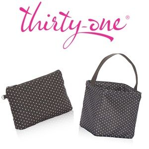 Thirty-one Set Mini Zip Pouch & Littles Carry All